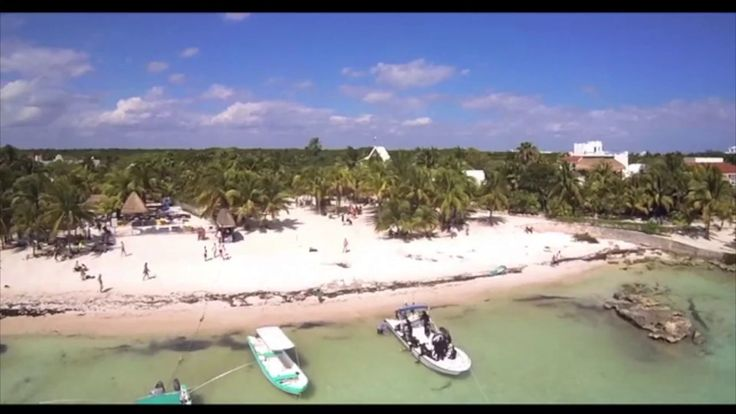 Akumal Beach Riviera Maya, Mexico Aerial Video