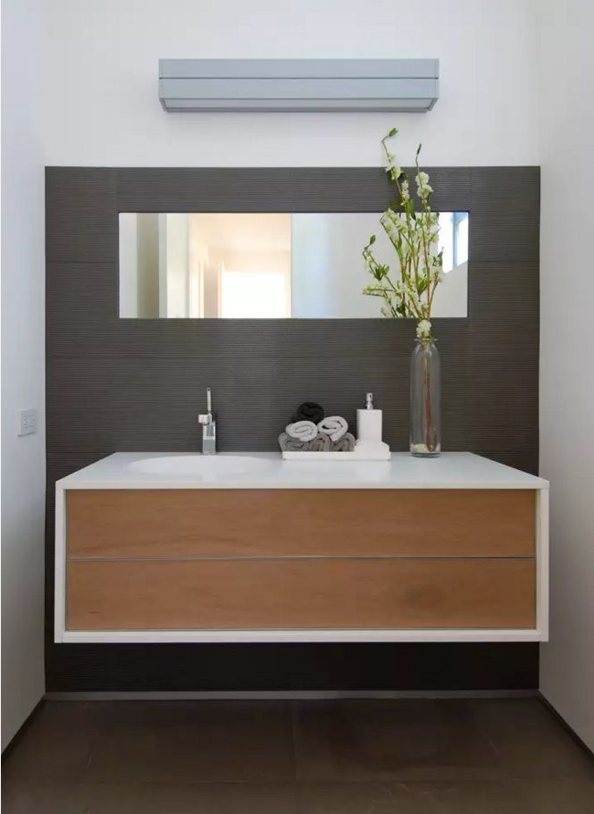 Image Gallery For Website Small Bathroom Space Saving Vanity Ideas Airy design of the MDF panels