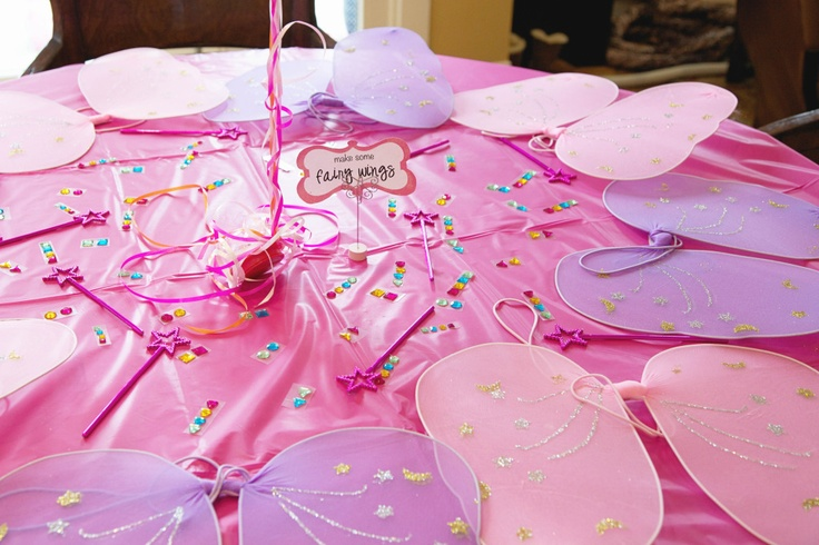 fairy party - decorate your own fairy wings