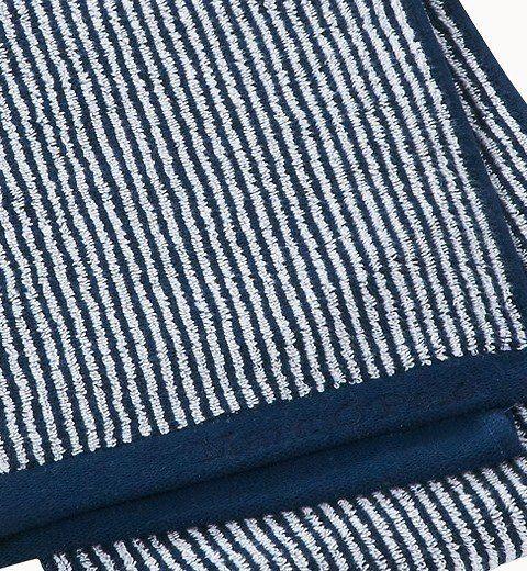 Marc O'Polo Handdoeken Timeless Tone Stripe deep navy/white