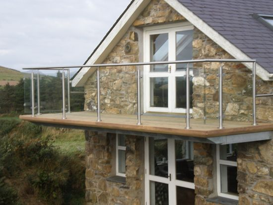 Steel frame balcony on gable end