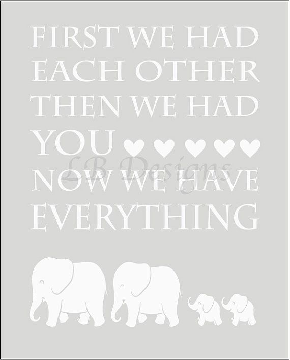 Twin Nursery Decor. Gender Neutral Gray and White Elephant/Jungle Nursery Print for Twins by LJBrodock on Etsy, $10.00
