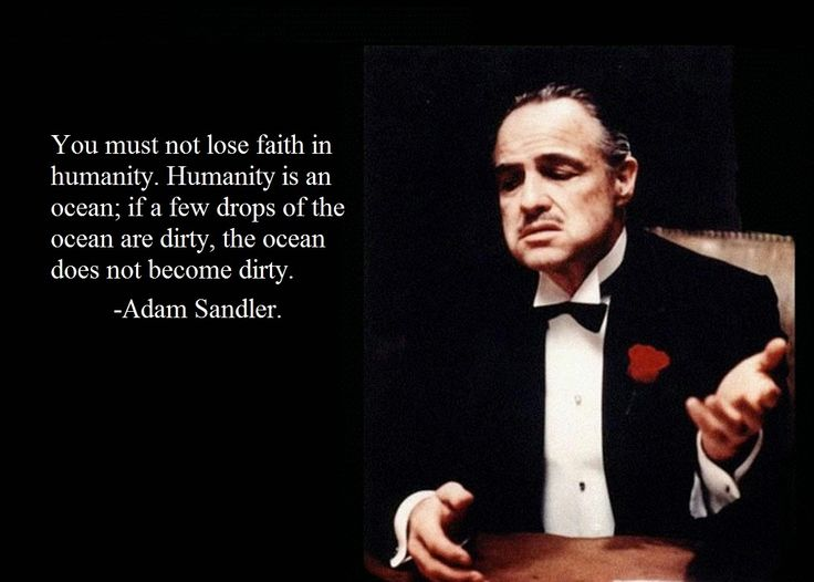 Godfather quote! I agree