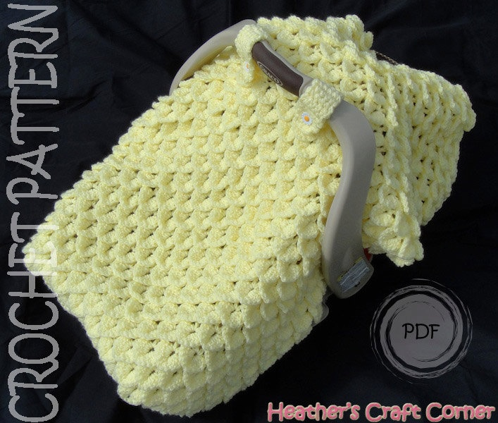 Chunky Celtic Weave Car Seat Canopy pattern by Heather Ormond | Car ...