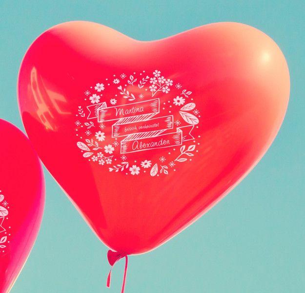 """Accessoires - 100 personalisierte Herzluftballons, Motiv """"frisch - ein Designerstück von susi-artmessengers bei DaWanda"""