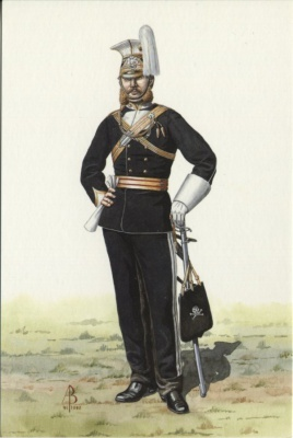 Alix Baker Postcard - AB14/3 Officer, 17th Light Dragoons (Lancers), 1865