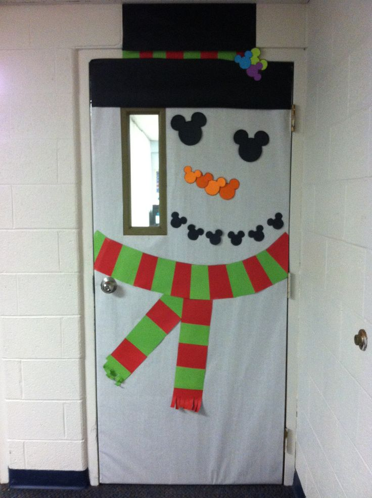 Snowman classroom door decoration by M Torres | Christmas ...
