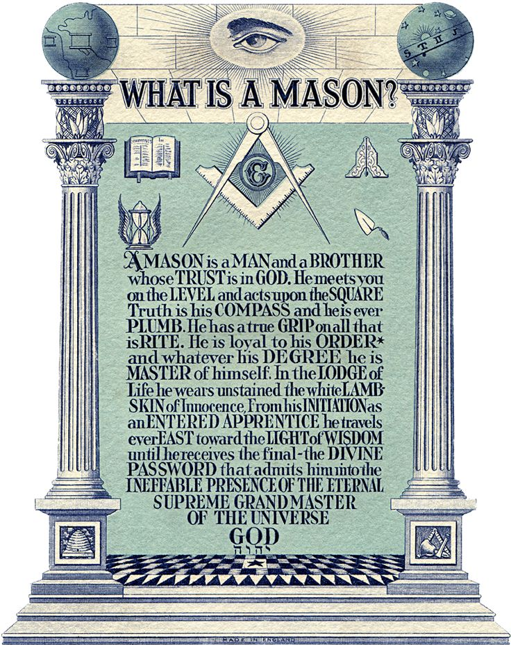 Masons, or Freemasons, are people the oldest and largest fraternity on this planet, with more than two million active members. Description from mason-secret-society.blogspot.com. I searched for this on bing.com/images
