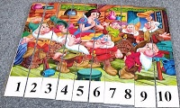 Number Sequence Puzzles.  This site has Disney Princess