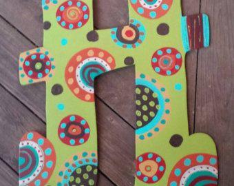 Custom Wood initial /Letter Door Hanger by SimplyShabbyByBella