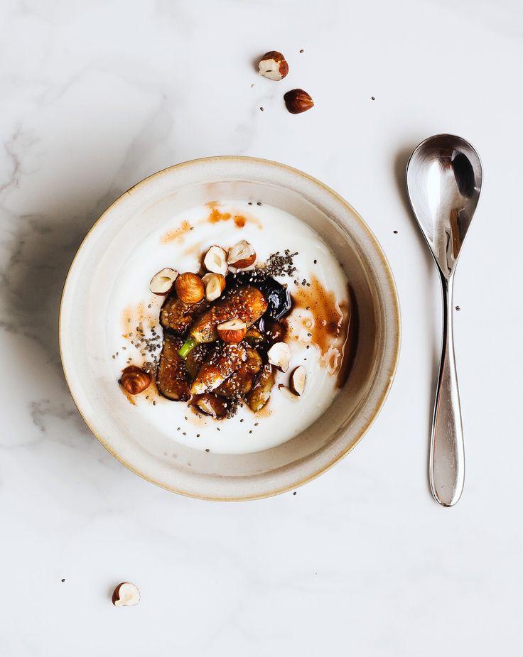 fig, hazelnut and chia yogurt bowl | the grounded kitchen.