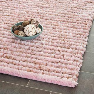 Hand Woven Metro Pink Shag Rug (8u0027 X 10u0027) | Overstock