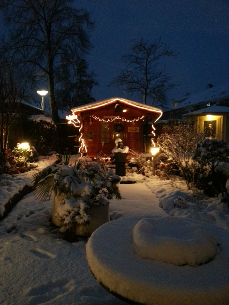 mijn tuin in kerstsfeer