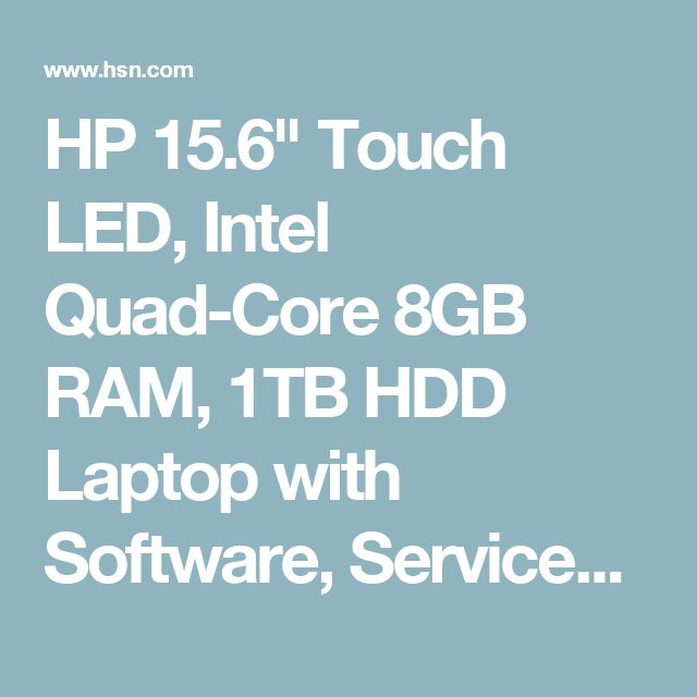 """HP 15.6"""" Touch LED, Intel Quad-Core 8GB RAM, 1TB HDD Laptop with Software, Services and Lifetime Support - 8251325 