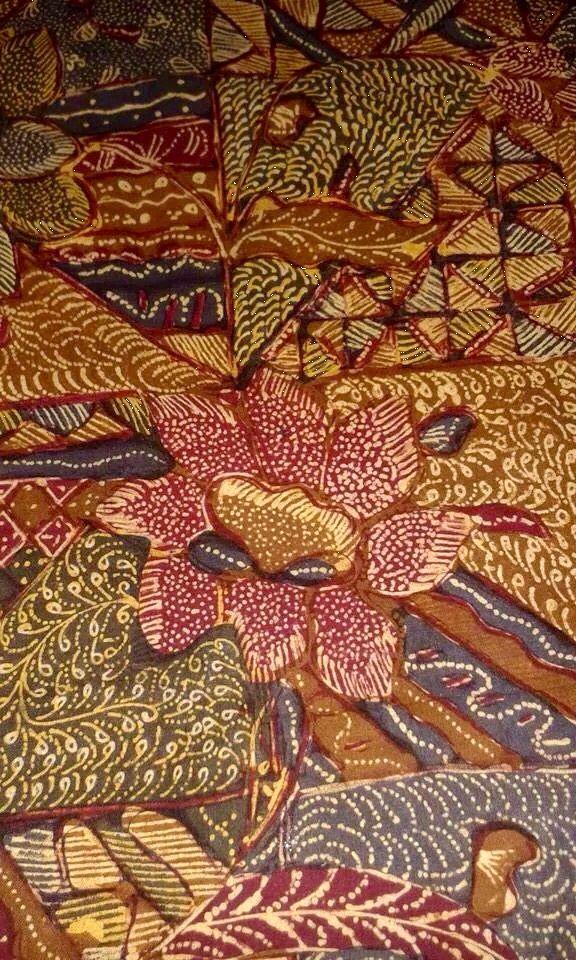 Hand drawn Vintage Batik Pekalongan Pagi Sore. Private collection of Arief Laksono.
