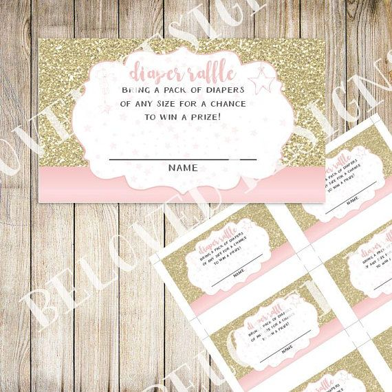 Twinkle Twinkle Little Star  Diaper Raffle Printable  Pink &