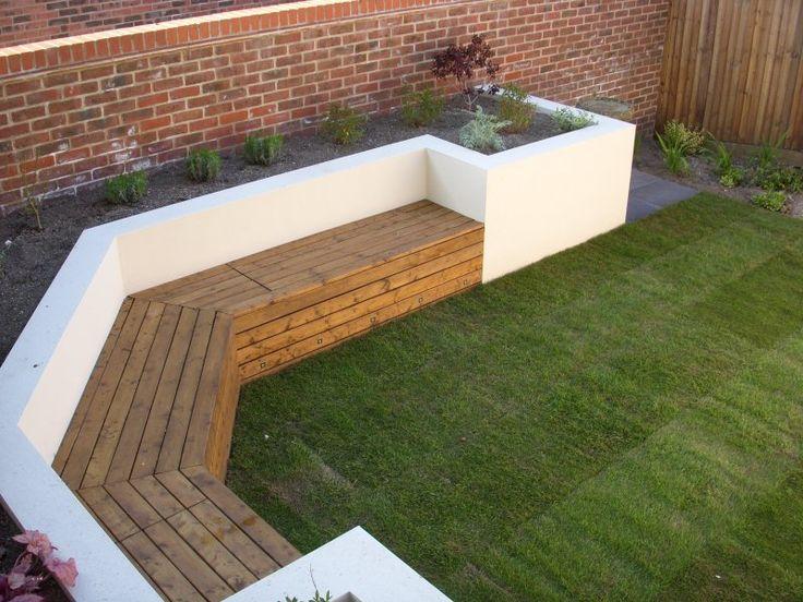 Built in seating garden pinterest garden ideas for Child friendly garden designs