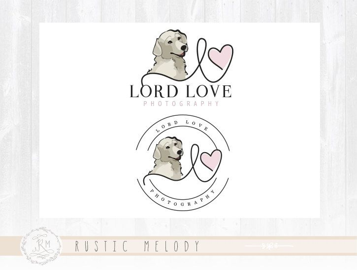 Dog Logo Design Photography Logo Animal Logo by RusticMelody1