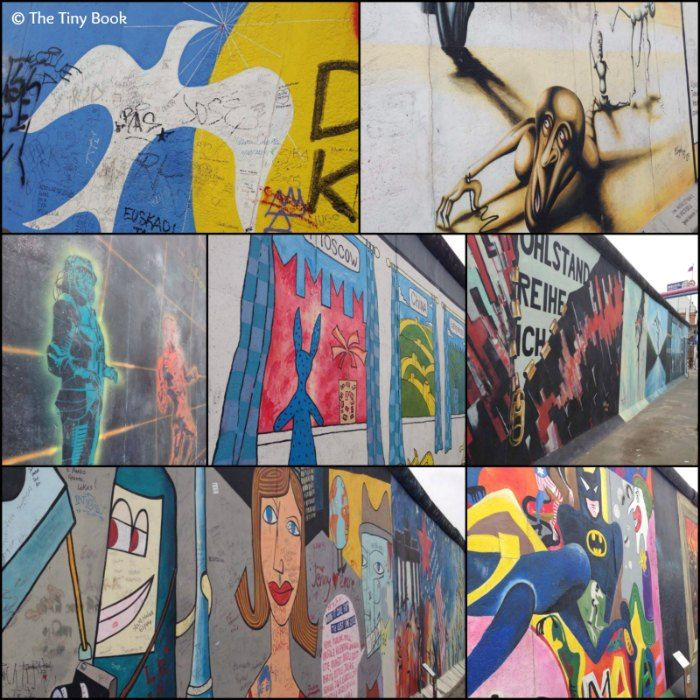 Works by painters of over 20 countries, made in 1990. Berlin Wall Art