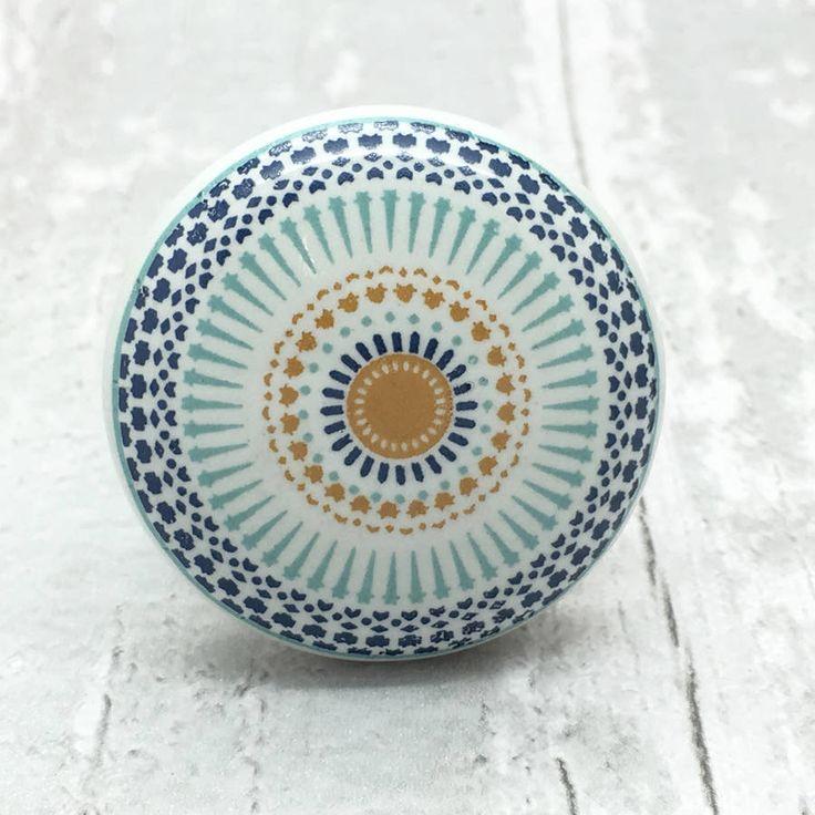 Positive Energy Ceramic Door Knob Cupboard Pull Handle