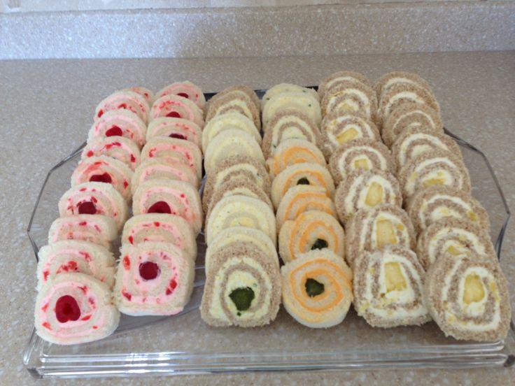 Pinwheel tea sandwiches are easy to make!