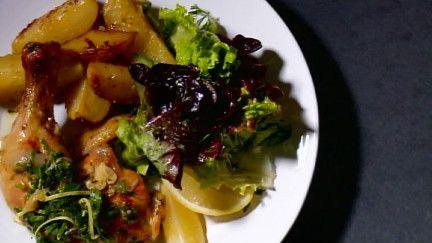 Cuisses de poulet rôties au citron et origan des montagnes - Recettes - À la di Stasio