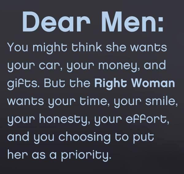 Dear Men, Please read and understand