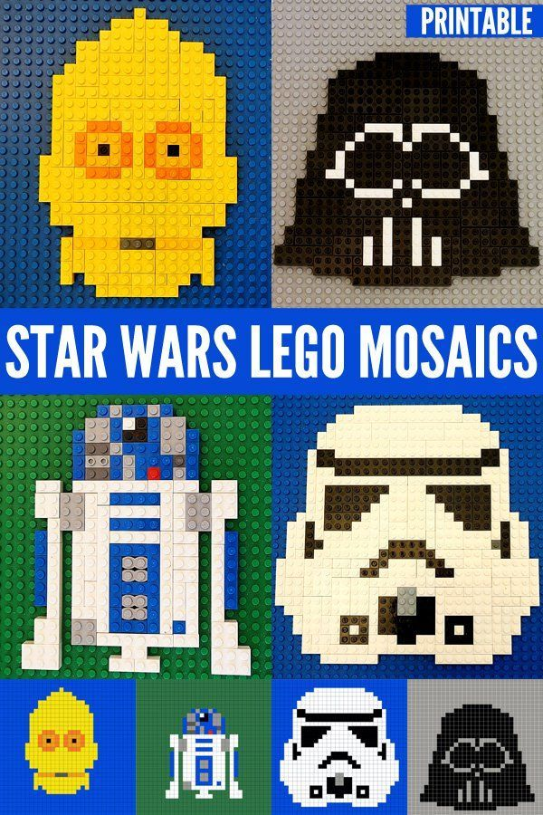 Looking for fun Star Wars inspired activities for kids? Celebrate the release of Star Wars:The Force Awakens with these fabulous printable Lego mosaic patterns.