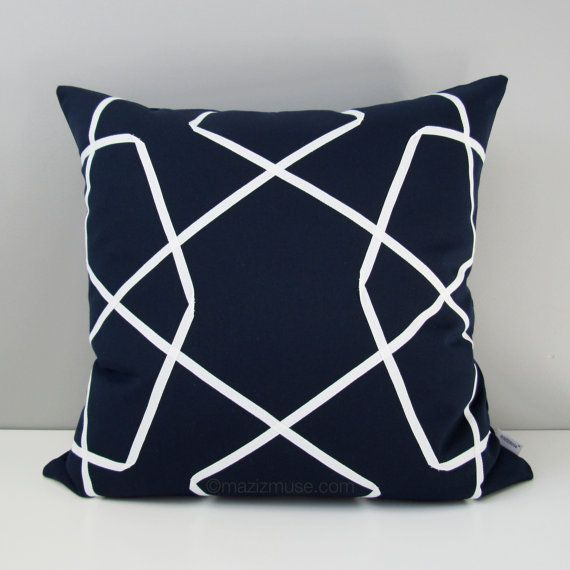17 Best images about Blue - Modern Outdoor Pillows by Mazizmuse Design Co on Pinterest Blue ...