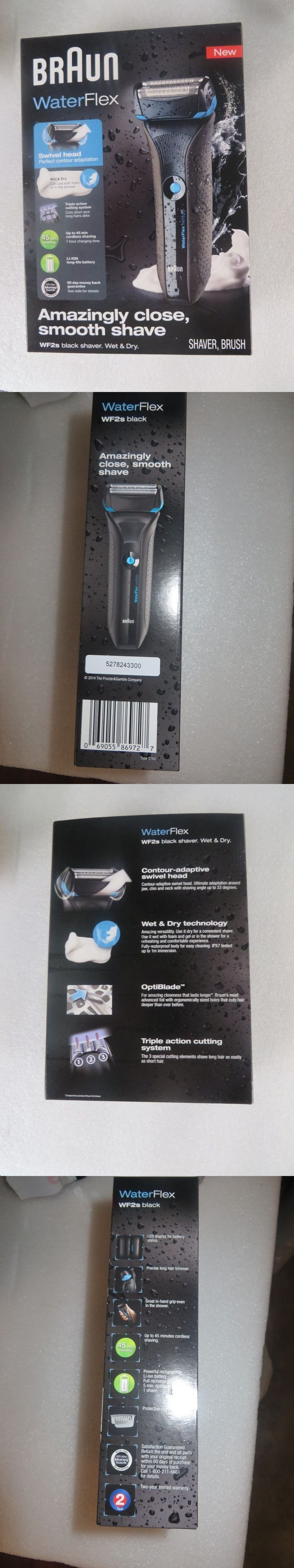 Mens Shavers: Braun Waterflex Wet And Dry Shaver, Black-Wf2s -> BUY IT NOW ONLY: $75 on eBay!