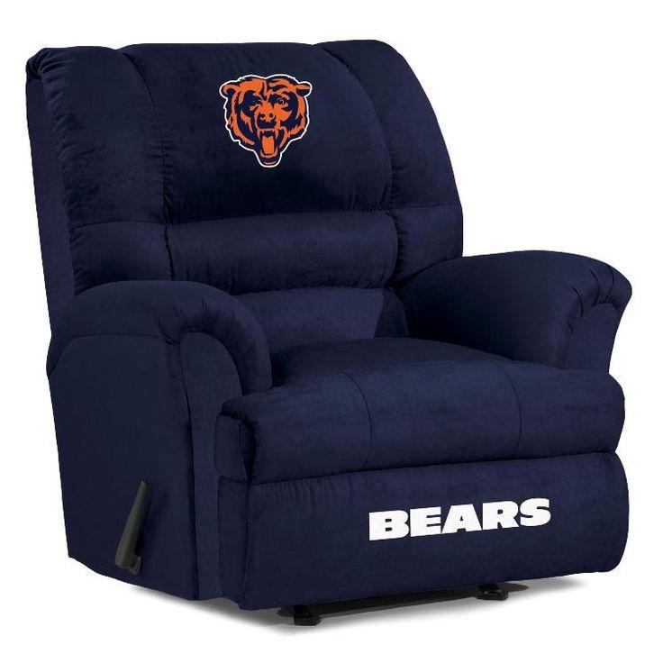 Chicago Bears Big Daddy Microfiber Recliner