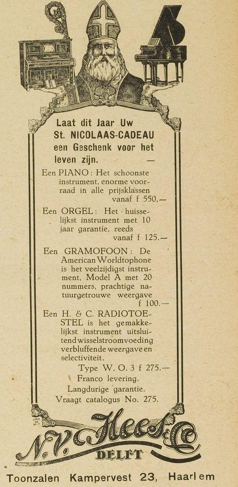 Sinterklaas advertentie 1928