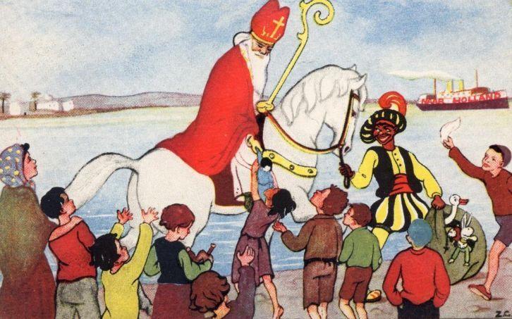 Mooie Sinterklaas kaart uit 1935