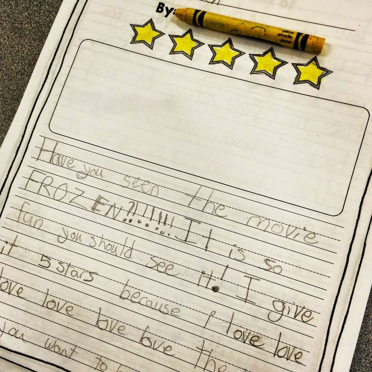 Make opinion writing fun for young writers by writing reviews about all sorts of movies, books, toys, etc! The kids love it.