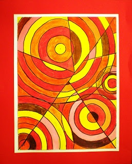 6th Grade Color Theory Abstract Paintings