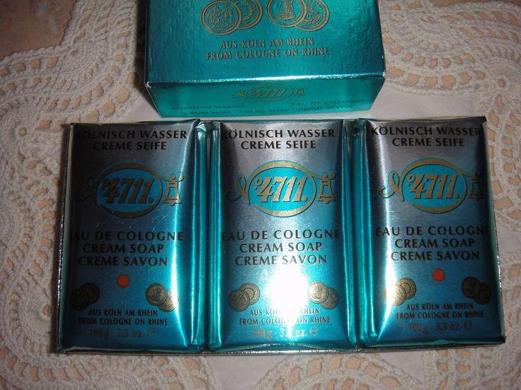 Echt Kölnisch Wasser Seife 3 x 100 gr  3 Handtücher 3 Gästetücher orange weiß