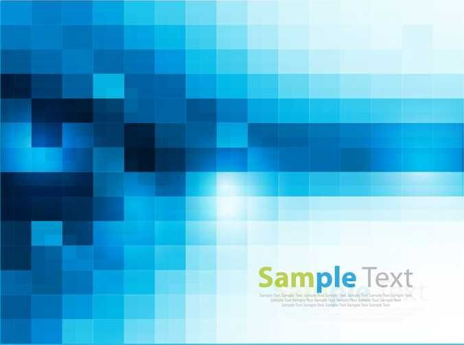 Abstract Square Pixel Mosaic Background - FREE