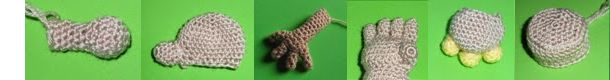 Amigurumi Patterns - Tutorials: How to weave different forms of arms and hands amigurumi