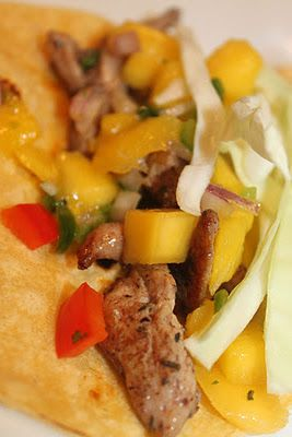 Caribbean Jerk Chicken Tacos with Mango Salsa