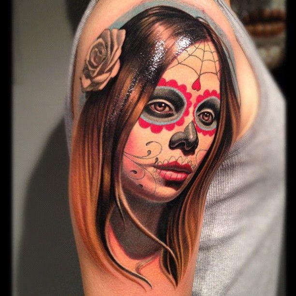 Les 25 meilleures id es concernant tatouage santa muerte sur pinterest la santa muerte tattoo - Santa muerte tatouage signification ...