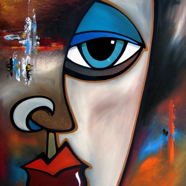 Through The Cracks By Fidostudio Art Print By Tom Fedro In 2021 Face Art Painting Art Painting Abstract