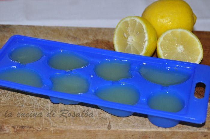 cubetti succo di limone