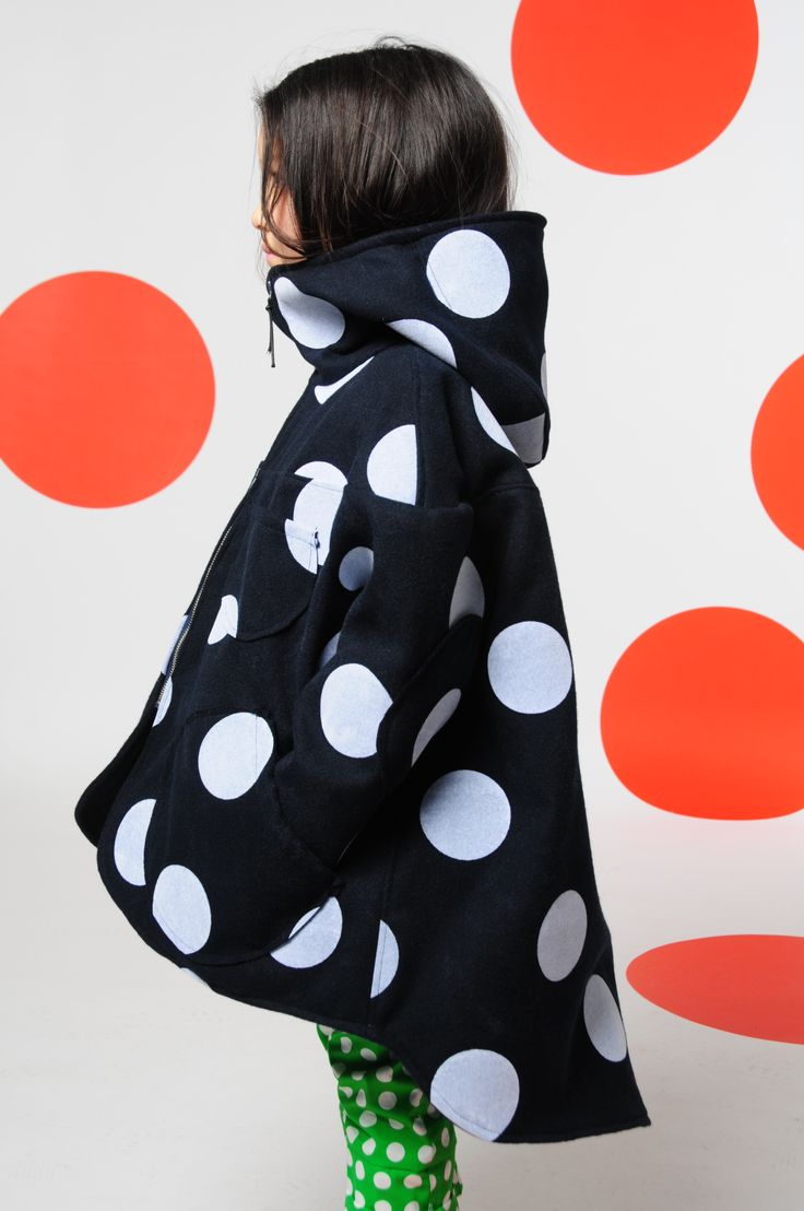 BOdeBO kid fashion CRAZY Coat with giant dots