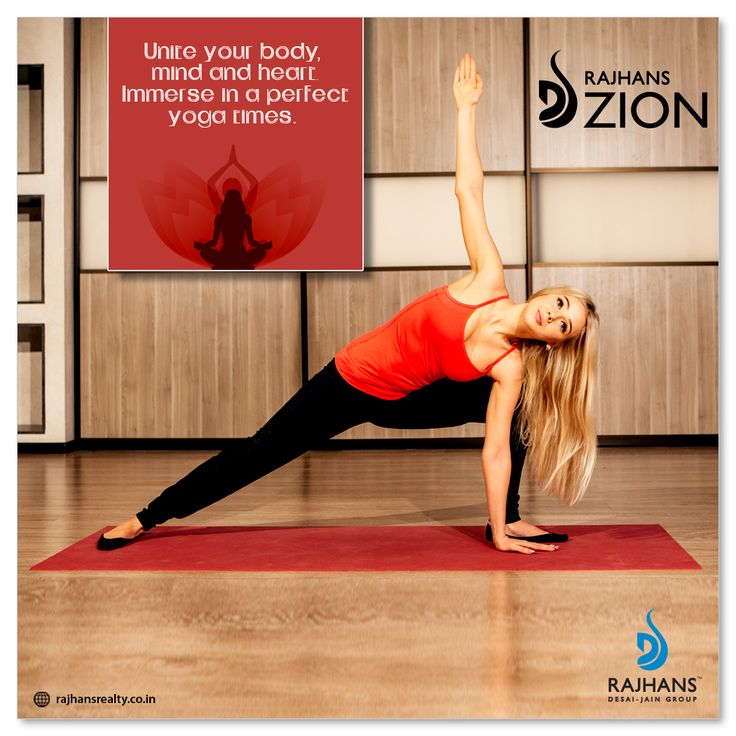 Unite your body, mind and heart. Immerse in a perfect yoga times.  #RajhansZion #RajhansRealEstate #Surat