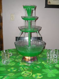 Green punch recipe: equal parts Green Hawaiian Punch and Gingerale.  Pineapple juice to taste.  Pineapple sherbet optional