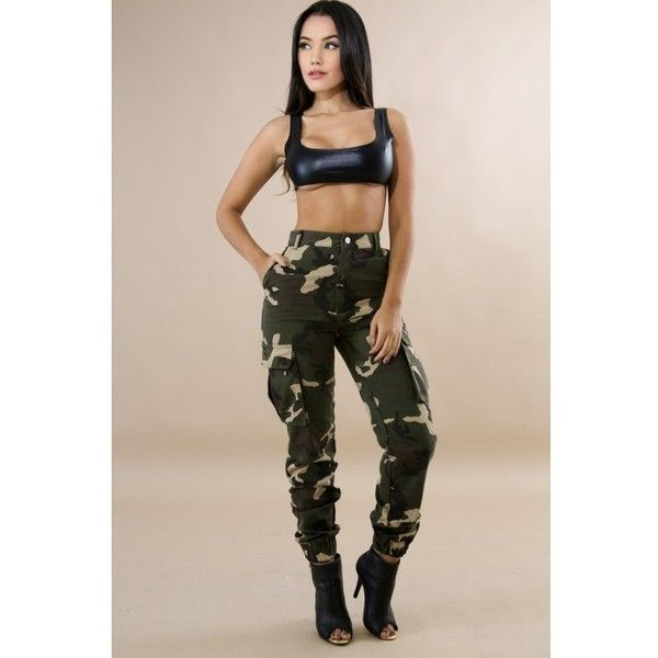 High Waist Camouflage Jeans ($50) ❤ liked on Polyvore featuring jeans, pink jeans, camo jeans, pink camo jeans, camoflage jeans and camouflage jeans