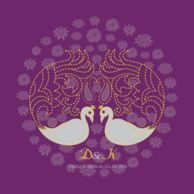 Wedding Invitations Plumes in Bloom Royal Purple
