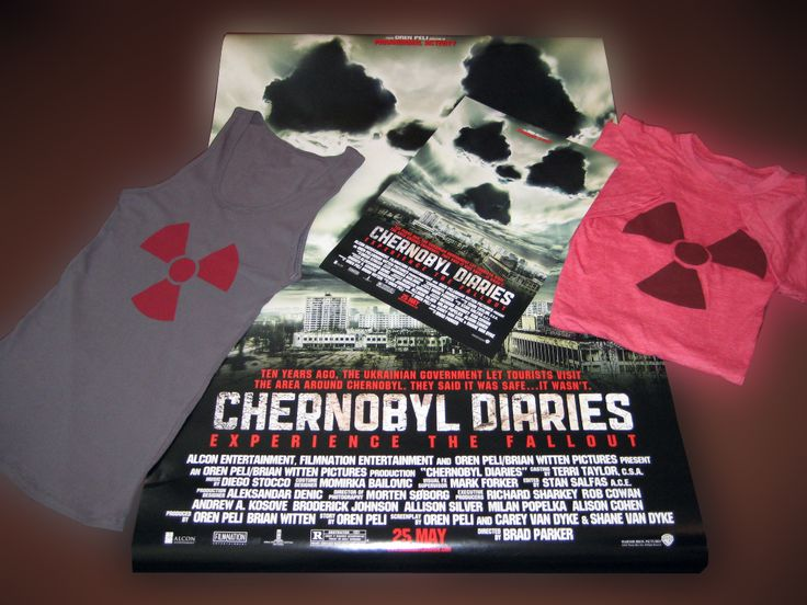 "CHERNOBYL DIARIES MOVIE PREMIER PROMO KIT........These items were given to VIP's at the Warner Bros. premier of ""Chernobyl Diaries"" starring Olivia Dudley & Jonathan Sadowski. All items are new, 100% authentic and have never been worn, hung or displayed. NEW & IN MINT CONDITION! www.theonestopfunshop.com"