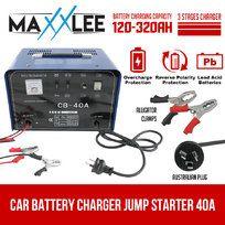 40A Car Battery Charger Jump Starter 2 IN 1  12V / 24V ATV Boat Truck  Amp 30A
