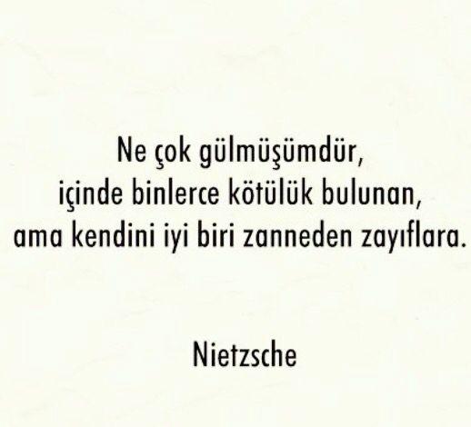 Kendini iyi biri zanneden Zavallılar Nietzsche sözleri